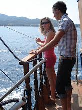 Photo: Orsi és Niko a hajón!