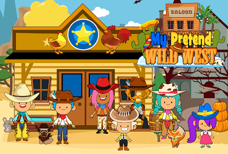 My Pretend Wild West - Cowboy & Cowgirl Kids Games 1.9