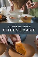 Pumpkin Cheesecake - Pinterest Pin item