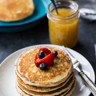 Caramel Macchiato Pancakes with Syrup