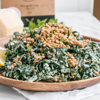 Kale Caesar Salad with Toasted Wheat Berries Recipe