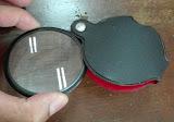 2#เลนส์แก้วแท้นะครับ วัดใจ 10 บาท แว่นขยาย HAND MAGNIFIER พกพา สวยๆ เลนส์ใสกริ๊ง สารพัดประโยชน์ ส่องดูหิน แร่ เเมลง แสตมป์ เหรียญ ของเก่า สินค้ามือ 1 จัดให้ครับ