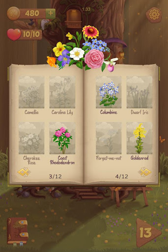 Flower Book: Match-3 Puzzle Game 1.76 screenshots 2