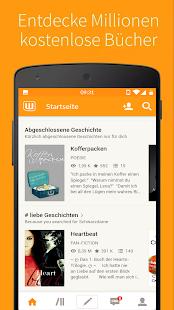Kostenlose Bücher - Wattpad Screenshot