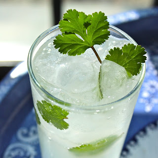 Coconut Ginger & Cilantro Cocktail