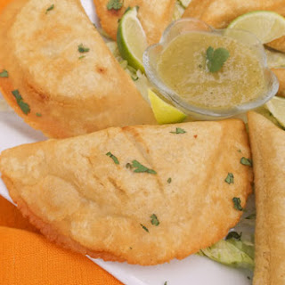 Mexican Empanadas with Green Sauce.