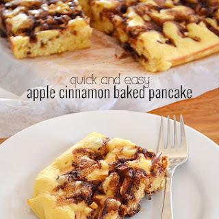 Apple and Cinnamon Baked Pancake