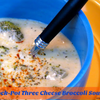 Crock-Pot Three Cheese Broccoli Soup