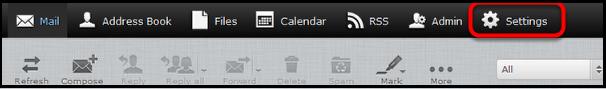 webmail settings