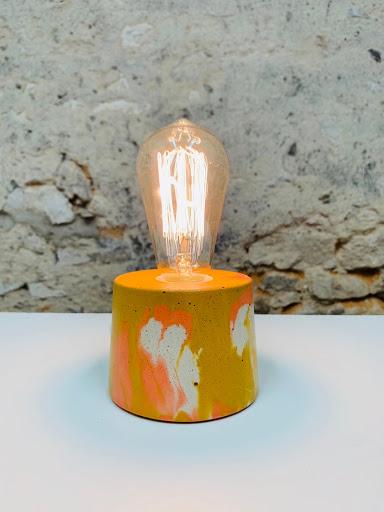 lampe en béton à poser
