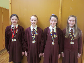 Photo: under 12's swimming team.  Munster winners, came fourth in nationals