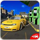 Electric Car Taxi Driver 3D