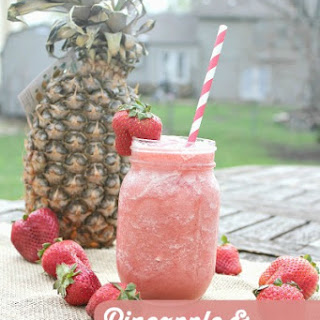 Strawberry Pineapple Sorbet Smoothie.