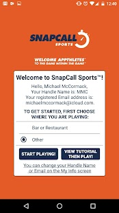 SnapCall Sports- screenshot thumbnail
