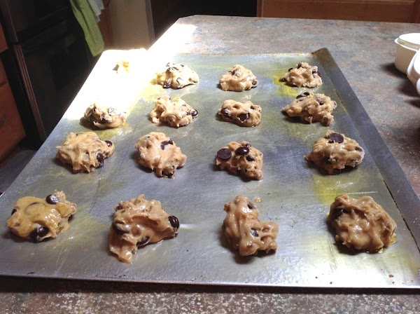 Shape the dough with a large tablespoon, & drop onto prepared cook sheet pans,...