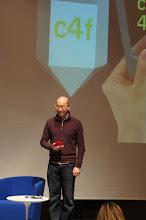 "Photo: The C4F award ""Media of the Future"" winner for 2012 - David Lee, founder of Shakr media"