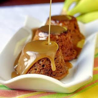 Banana Sticky Toffee Pudding.