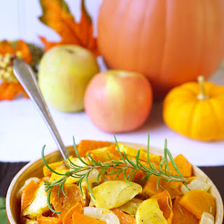 Roasted Sweet Potatoes, Squash, & Apples.