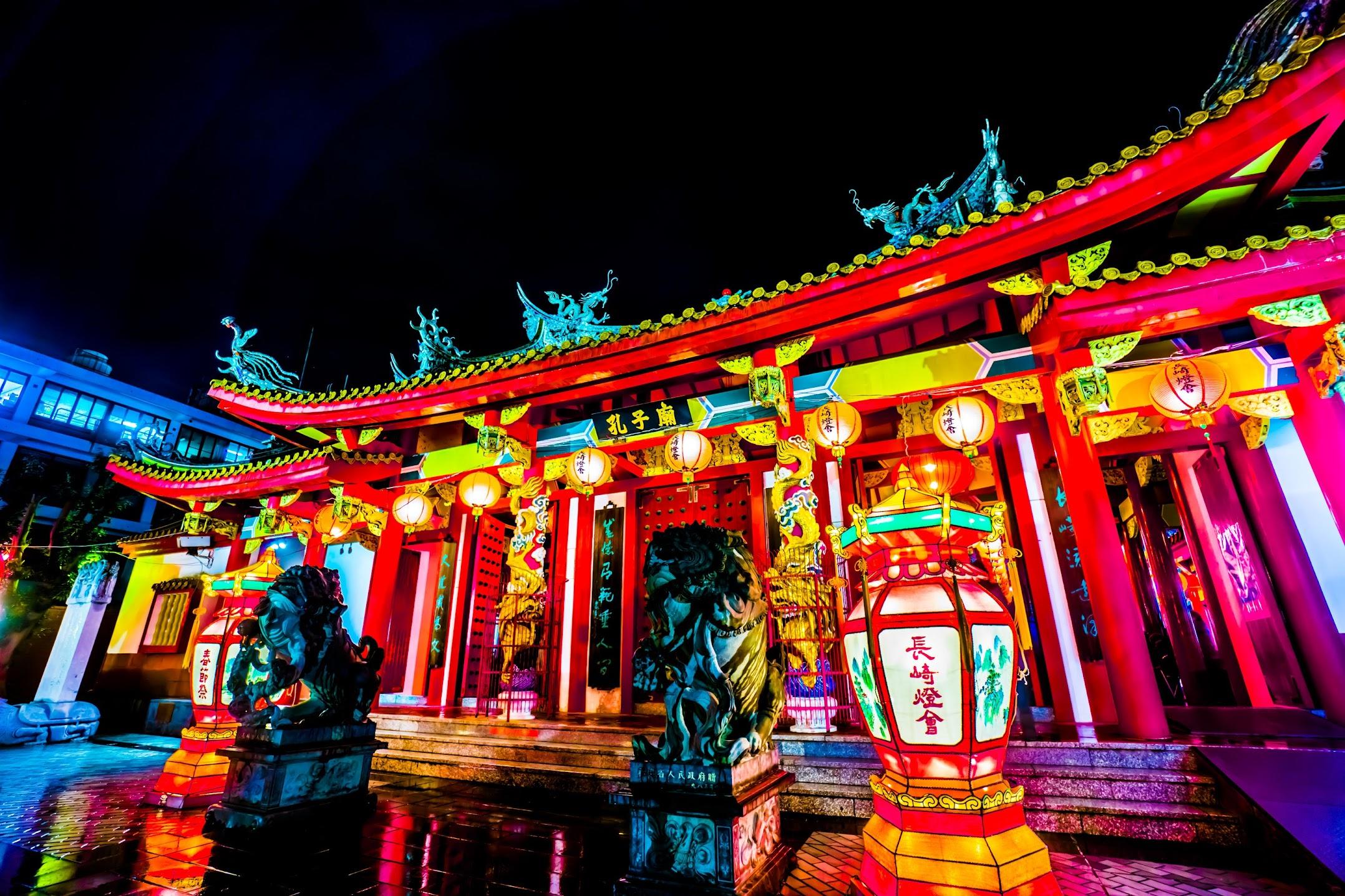 長崎ランタンフェスティバル 孔子廟1