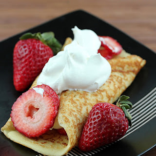 Simple Strawberry Dessert Crepes.