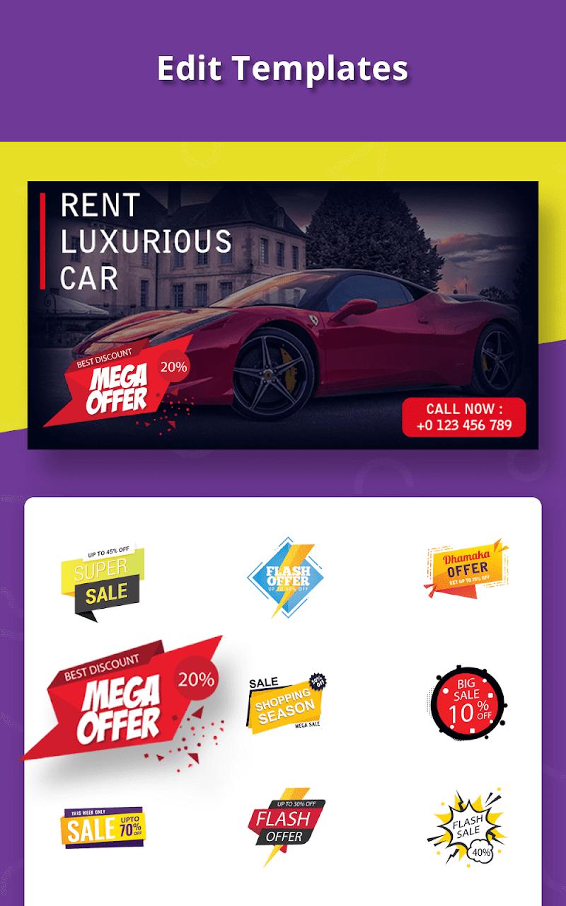 Banner Maker, Ad Maker, Web Banners, Graphic Art Screenshot 19