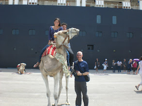 Photo: My little brother and I riding a camel