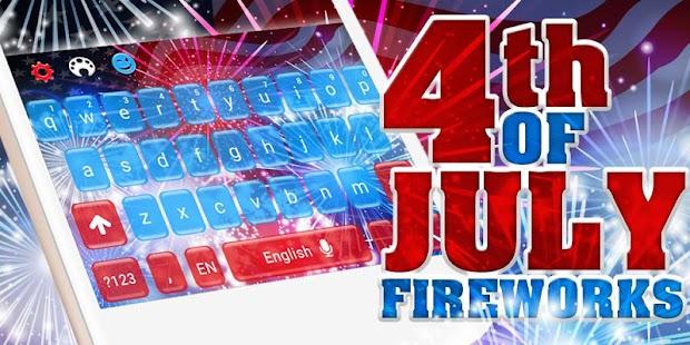 Fourth of July Fireworks Keyboard - náhled