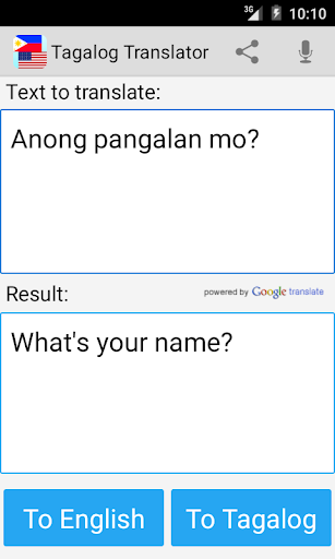 Tagalog English Translator Pro S