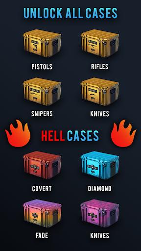 ?Hell Case Merge. Ultimate Skins Simulator Opener 1.11 screenshots 2