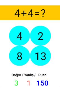 Matematik Oyunu (Toplama Çıkarma Çarpma Bölme) - náhled