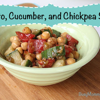 Tomato, Cucumber, and Chickpea Salad