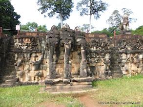 Photo: Terrace of the elephant king at Angkor Thom.
