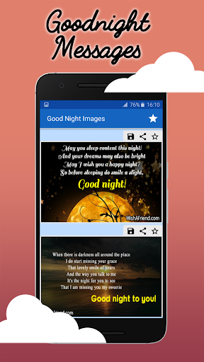 Good Night Wishes: Collection of Messages & Images 2.3 screenshots 1