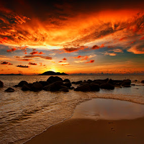 Burning sky by Hendra Heng - Landscapes Waterscapes