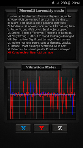 Vibration Meter PRO Applications pour Android screenshot