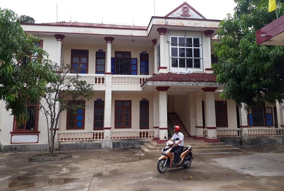 Trụ sở UBND xã Nam Hóa nơi xảy ra vụ trộm