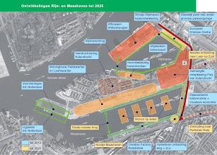 Photo: [2007 ©-Stadshavens Rotterdam] - http://www.stadshavensrotterdam.nl - schetsen & studies - kaartje uit het Uitvoeringsprogramma 2007-2010 - click hier voor het complete tekst: http://www.bds.rotterdam.nl/dsresource?objectid=165899 en click hier voor de complete tekst 2007-2015: http://www.stadshavensrotterdam.nl/_files/Files/Uitvoeringsprogramma_2007_2015.pdf.
