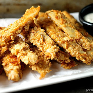 Crispy Baked BBQ Chicken Strips.