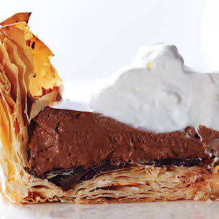 Chocolate Mousse Pie with Phyllo Crust.