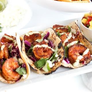 Easy Chipotle Shrimp Tacos.
