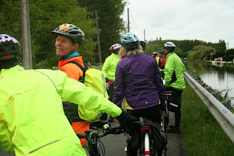 Photo: Cycle jam along the canal path