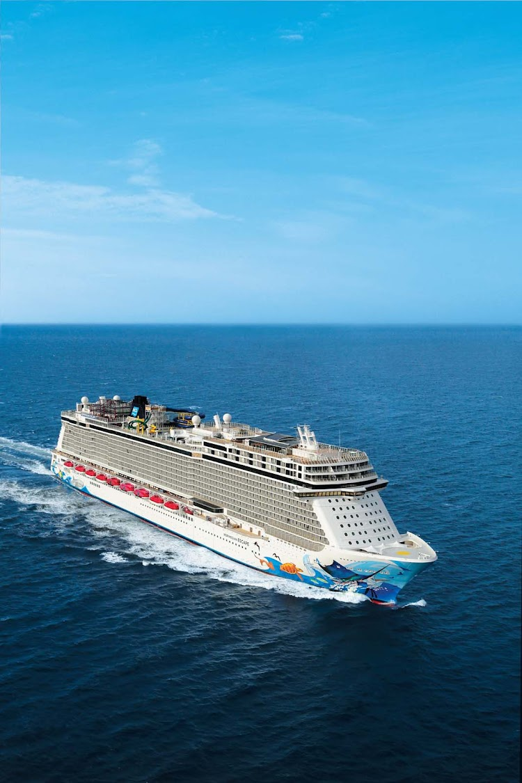 Norwegian Escape carries roughly 4,248 passengers on voyages to the Caribbean.