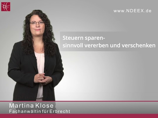 Steuern sparen beim Erben - Martina Klose Fachanwältin für Erbrecht