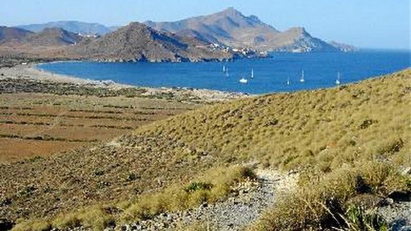 Imagen de la bahía de los Genoveses, en el Cabo de Gata-Níjar.