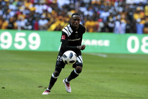 Mthokozisi Dube of Pirates has recovered from an injury. / Veli Nhlapo