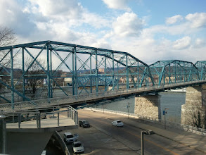 Photo: looking to the Walnut Street Pedestrian Bridge