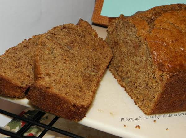 Cinnamon Oatmeal Banana Bread (nuts Omitted).  I Baked Two Loafs Extremely Early This Morning (january 01, 2014) And Figured I'd Take Some Pictures.  Hope You All Enjoy And Hope Everyone Has A Blessed And Wonderfully Happy New Year! ~ Kathryn Grenier