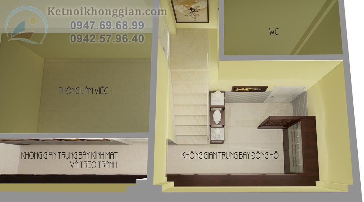 thiết kế cửa hàng đồng hồ kính mắt