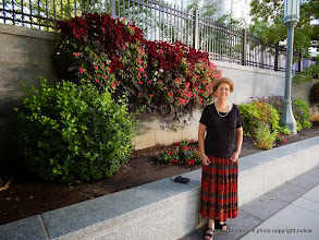 Photo: Regina at Temple Square
