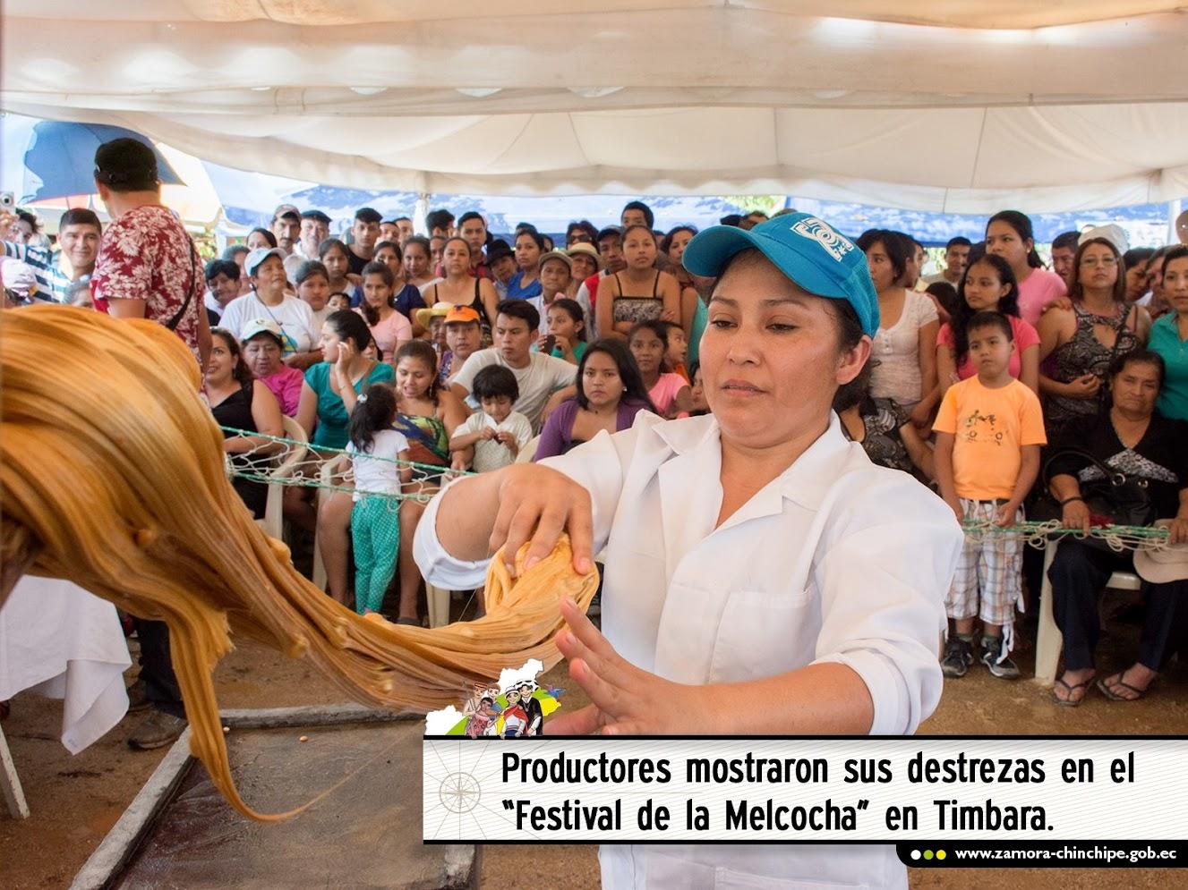 PRODUCTORES MOSTRARON SUS DESTREZAS EN EL FESTIVAL DE LA MELCOCHA